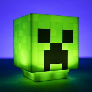 Minecraft Creeper fej lámpa