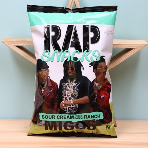 Rap Snacks Migos - tejfölös, ranch öntetes chips
